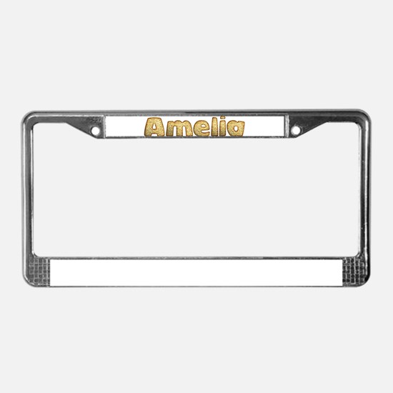 Amelia Toasted License Plate Frame