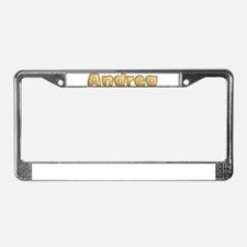 Andrea Toasted License Plate Frame