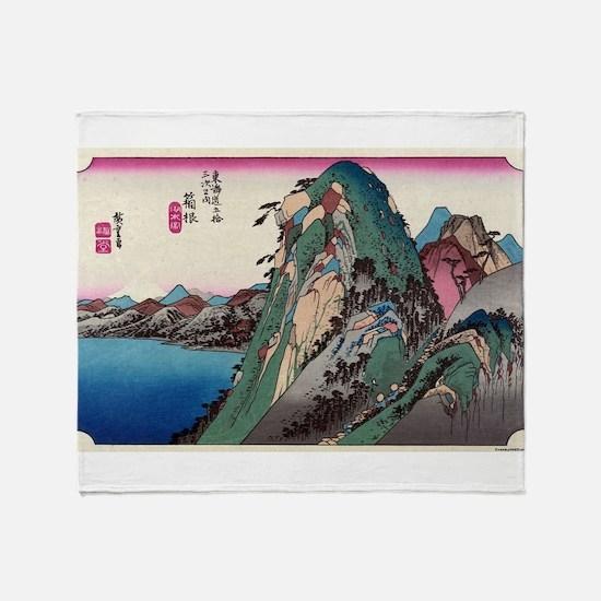 Hakone - Hiroshige Ando - 1833 - woodcut Throw Bla