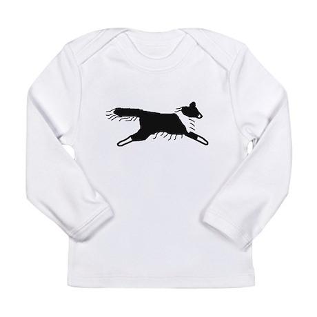Bi-Black Sheltie Long Sleeve Infant T-Shirt