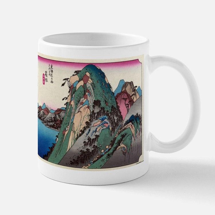 Hakone - Hiroshige Ando - 1833 - woodcut Mugs