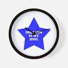 Ibrahim Is My Idol Wall Clock