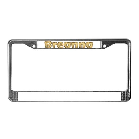Breanna Toasted License Plate Frame