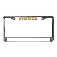 Brendan Toasted License Plate Frame