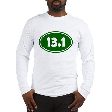 13.1 Oval - Forest Green Long Sleeve T-Shirt