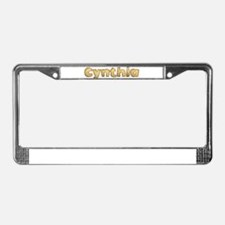 Cynthia Toasted License Plate Frame