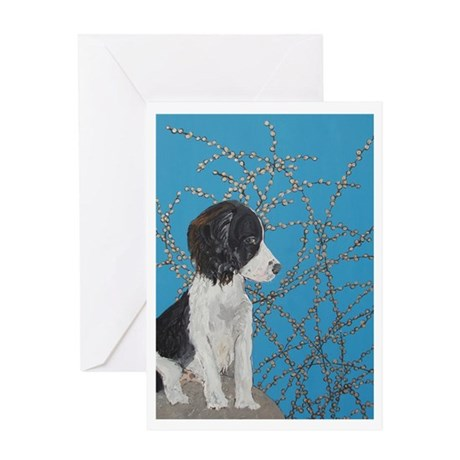 """Springer Spaniel"" Greeting Card"