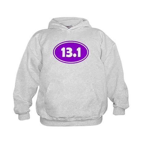 13.1 Oval - Purple Kids Hoodie