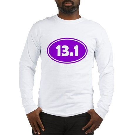13.1 Oval - Purple Long Sleeve T-Shirt