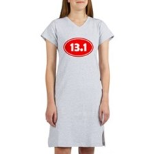 13.1 Oval - Red Women's Nightshirt