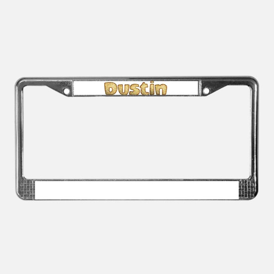Dustin Toasted License Plate Frame
