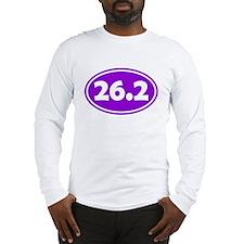 26.2 Oval - Purple Long Sleeve T-Shirt