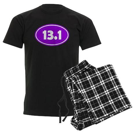 13.1 Oval - Purple Men's Dark Pajamas