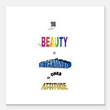 "Beautiful Attitude Square Car Magnet 3"" x 3"""