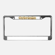 Gabrielle Toasted License Plate Frame