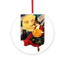 Cute Witch Ornament (Round)