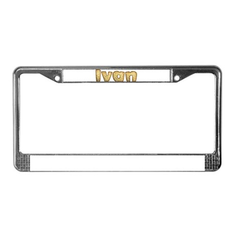 Ivan Toasted License Plate Frame