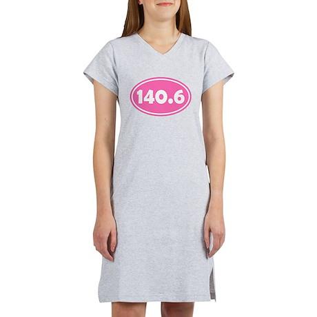 140.6 Oval - Pink Women's Nightshirt