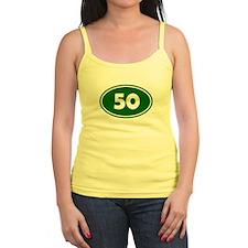 50k Oval - Forest Green Jr.Spaghetti Strap