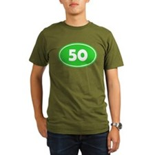 50k Oval - Lime Green T-Shirt