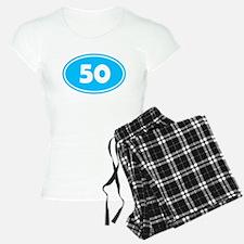 50k Oval - Sky Blue Pajamas