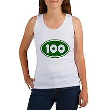 100k Oval - Forest Green Women's Tank Top