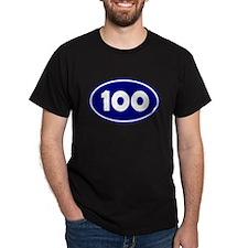 100k Oval - Navy Blue T-Shirt