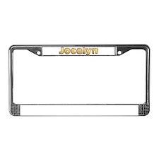 Jocelyn Toasted License Plate Frame
