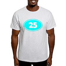 25k Oval - Cyan T-Shirt