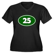 25k Oval - Forest Green Women's Plus Size V-Neck D