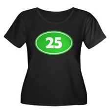 25k Oval - Lime Green T