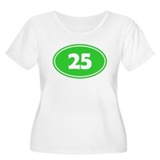 25k Oval - Lime Green T-Shirt