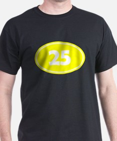 25k Oval - Yellow T-Shirt