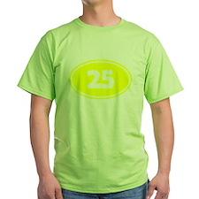 25k Oval - Yellow T-Shirt