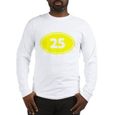25k Oval - Yellow Long Sleeve T-Shirt