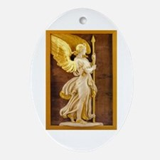 Golden Angel Ornament (Oval)