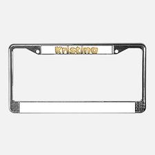 Kristina Toasted License Plate Frame