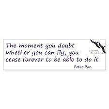 Peter Pan Paragliding Bumper Bumper Sticker