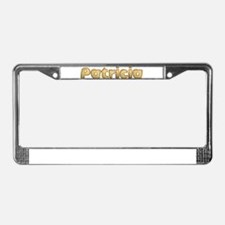 Patricia Toasted License Plate Frame