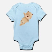 Cute and Cuddly Baby Otter Infant Bodysuit