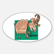 Silly Capricorn Oval Decal