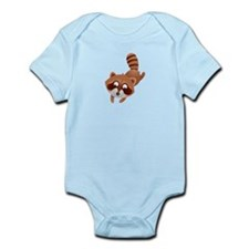Cute and Cuddly Baby Raccoon Infant Bodysuit