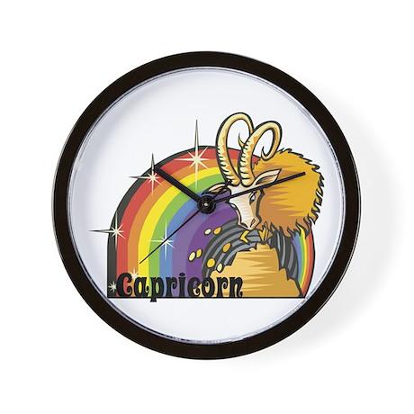 Capricorn with Rainbow Design Wall Clock