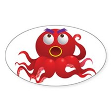 Cute and Cuddly Baby Octopus Decal