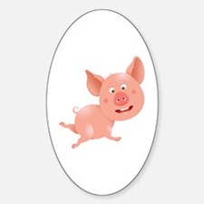 Cute and Cuddly Baby Pig Decal