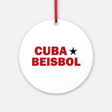 Cuba Beisbol Ornament (Round)