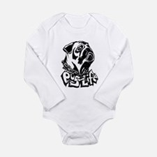 Pug Life Long Sleeve Infant Bodysuit