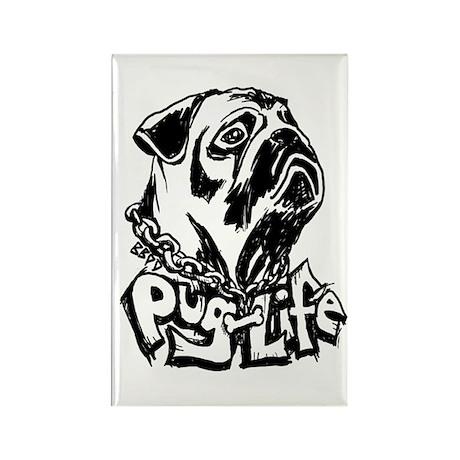 Pug Life Rectangle Magnet