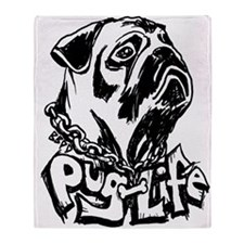 Pug Life Throw Blanket