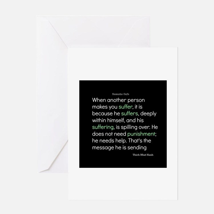 Suffering-Thich Nhat Hanh Greeting Card